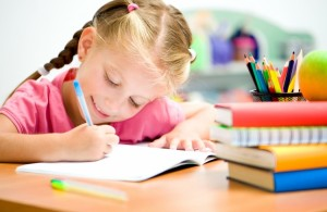 Kind schrijft